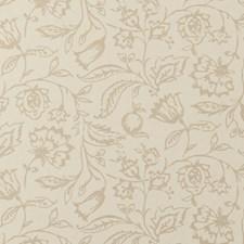 Linen/Cream Floral Medium Wallcovering by Clarke & Clarke