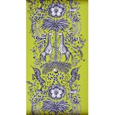 Lime Wallcovering by Clarke & Clarke
