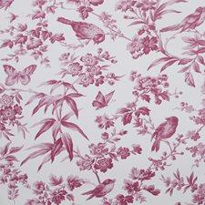 Raspberry Wallcovering by Clarke & Clarke