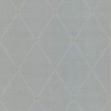 Blue/White/Beige Novelty Wallcovering by Kravet Wallpaper
