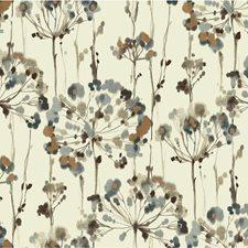 Ivory/Silver/Brown Botanical Wallcovering by Kravet Wallpaper