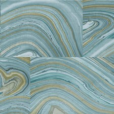 Light Blue/Ivory/Beige Modern Wallcovering by Kravet Wallpaper