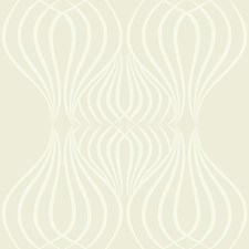 Ivory/White/Metallic Geometric Wallcovering by Kravet Wallpaper
