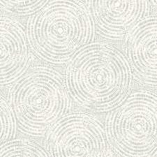 Metallic/Grey Modern Wallcovering by Kravet Wallpaper