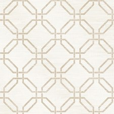 White/Khaki Geometric Wallcovering by Kravet Wallpaper