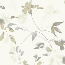 Ivory/Taupe/Gold Botanical Wallcovering by Kravet Wallpaper