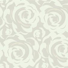 Silver/White Modern Wallcovering by Kravet Wallpaper