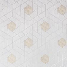 Light Grey/Beige/Metallic Geometric Wallcovering by Kravet Wallpaper