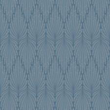Blue/Grey Modern Wallcovering by Kravet Wallpaper