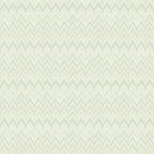 Pale Gray-Green/Aqua/Cream Chevron Wallcovering by York