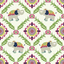 White/Pink/Green Animals Wallcovering by York