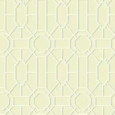 Beige/White/Aqua Asian Wallcovering by York