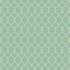 Bright Aqua/Cream Trellis Wallcovering by York