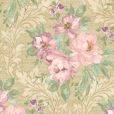 Pink Gold Wallcovering by Scalamandre Wallpaper