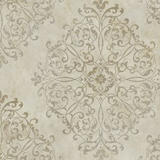 Gold Neutral Wallcovering by Scalamandre Wallpaper