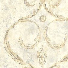 Gold/Grey Wallcovering by Scalamandre Wallpaper