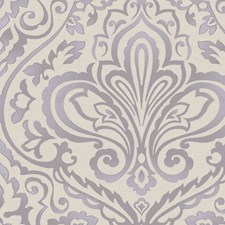Purple/Silver Wallcovering by Scalamandre Wallpaper