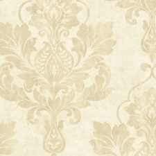 Cream Metallic Wallcovering by Scalamandre Wallpaper