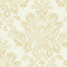 White/Gold Wallcovering by Scalamandre Wallpaper
