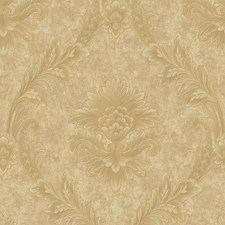 Beige/Gold Floral Wallcovering by York