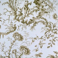 Beige Hand Printed Wallcovering by Scalamandre Wallpaper