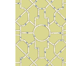 Cream/Blue On Lettuce Wallcovering by Scalamandre Wallpaper