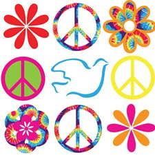 WPD99954 Tie-dye Peace Minipops Wall Art Kit by Brewster