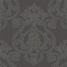Dark Grey/Metallic Silver/Taupe Bricks Wallcovering by York